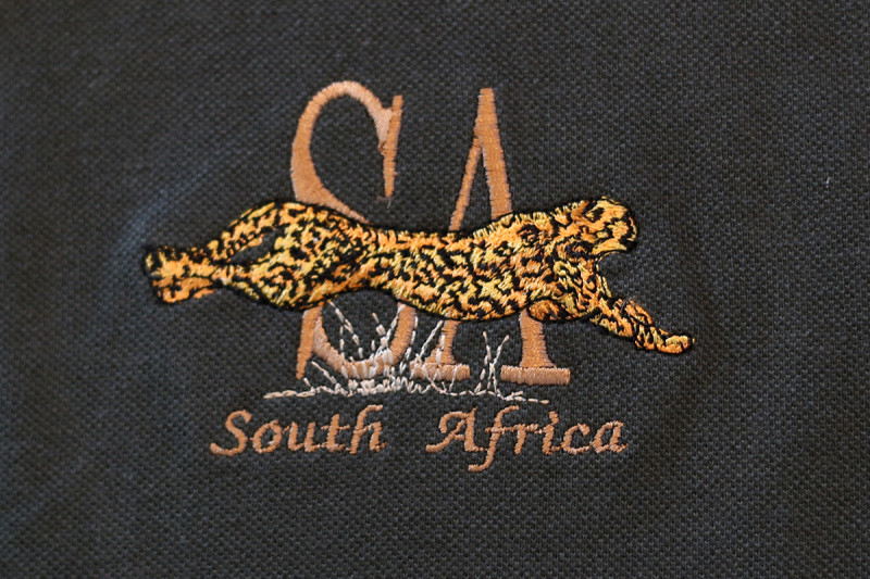 South Africa Leaping Cheetah Mens Golf